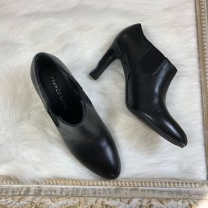 Franco Sarto Suri Leather Heeled Dress Booties